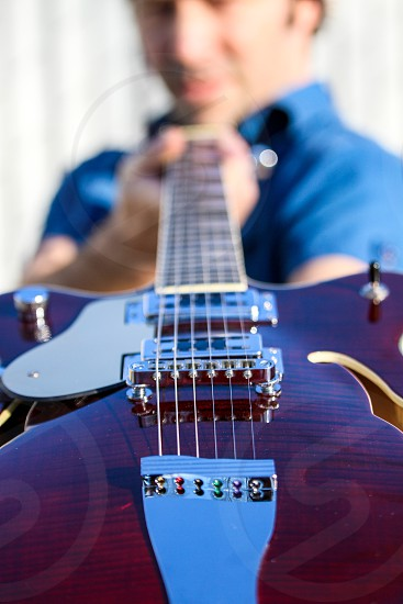 Guitar strings music instrument  photo
