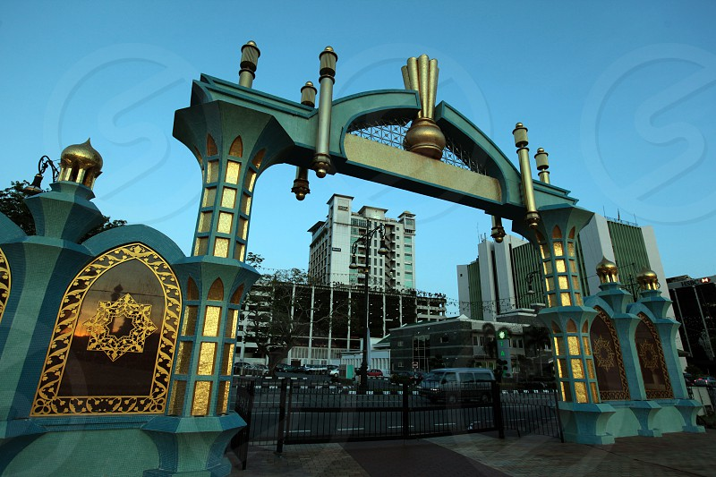 the city centre in the city of Bandar seri Begawan in the country of Brunei Darussalam on Borneo in Southeastasia. photo