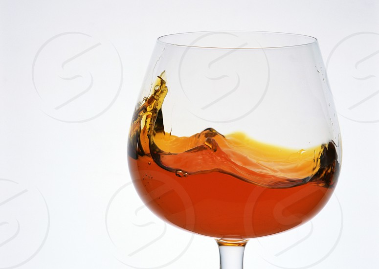 Whiskey in a glass white background photo