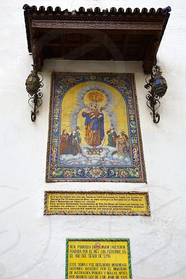 Seville Omnium Sanctorum church in Spain at Sevilla Andalusia photo