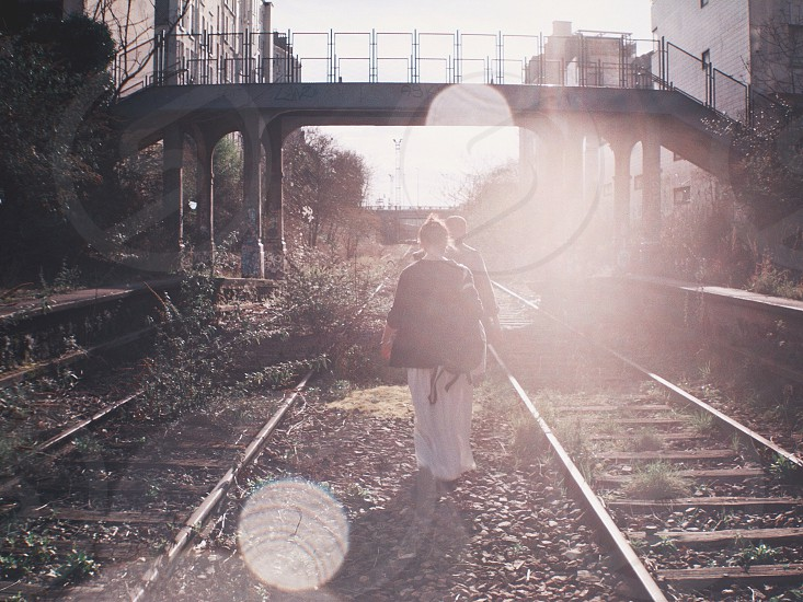 Exploring abandoned railways in Paris. photo