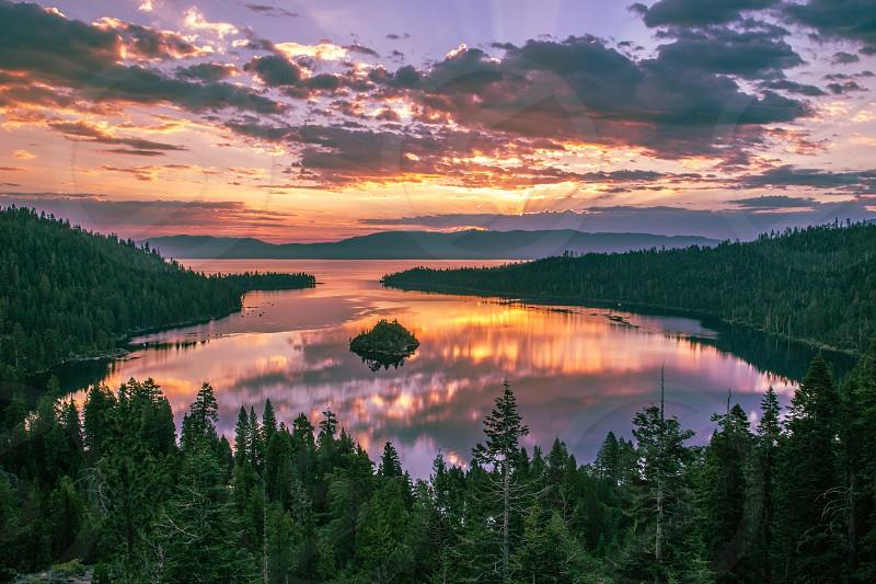 Sunset at Lake Tahoe photo