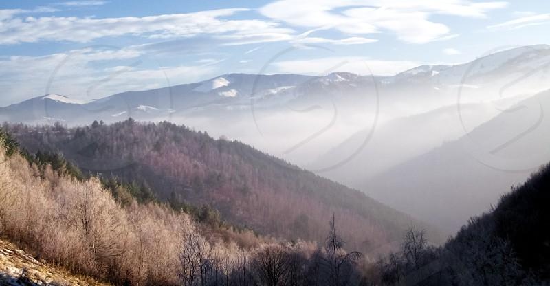 Autumn Morning - Calugaru hill Rasinari village area Sibiu County Romania 900m 14-12-2013 photo