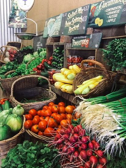Vegetables vegetable organic market farm gate farmers market food fresh photo