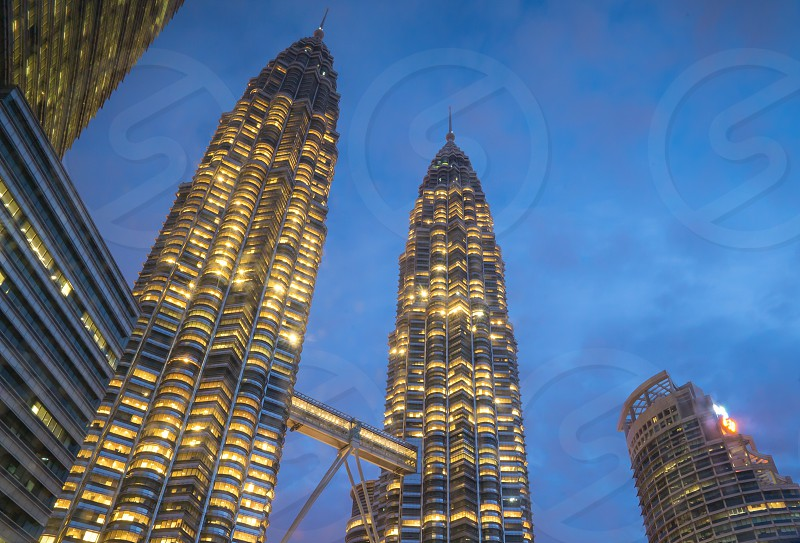 Sparkling Skyscraper KLCC cityscape skyline photo