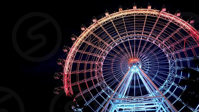 Music to light show around wheel photo