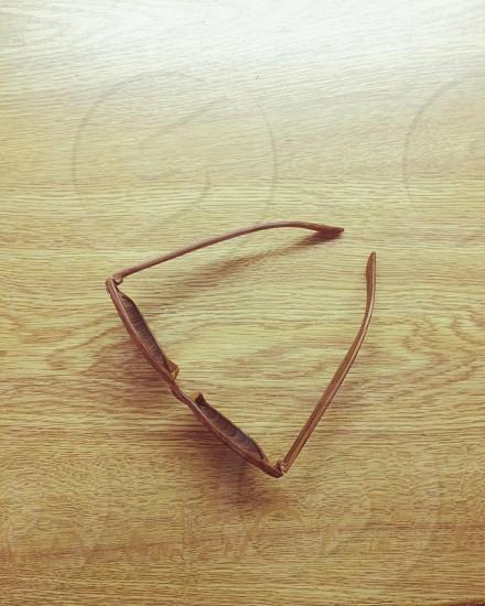 Brown framed sunglasses photo