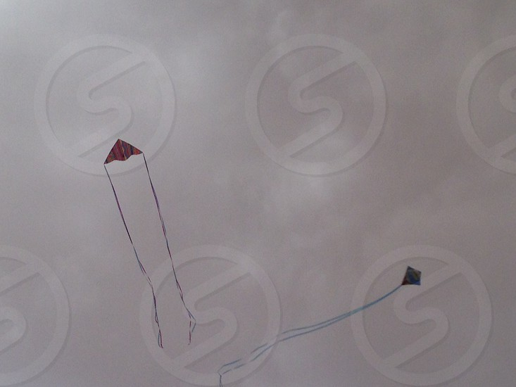 Kites in a monsoon photo