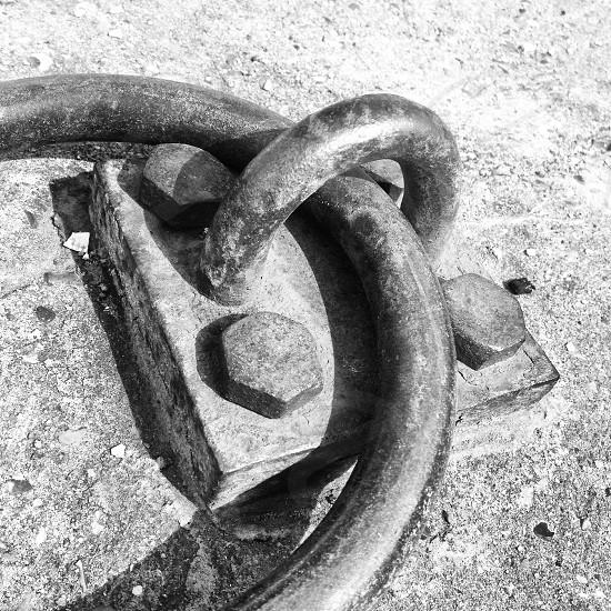 grey metallic chain photo