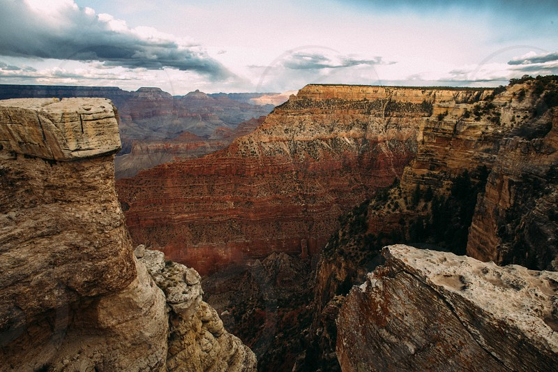 Grand Canyon prior to a storm.  photo