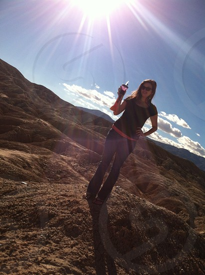 This is A picture i took of my sister at the Slot in Ocotillo wells Ca. photo