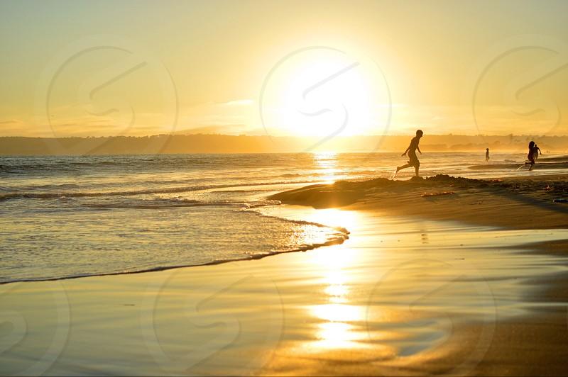 seashore and sunset nature photography photo