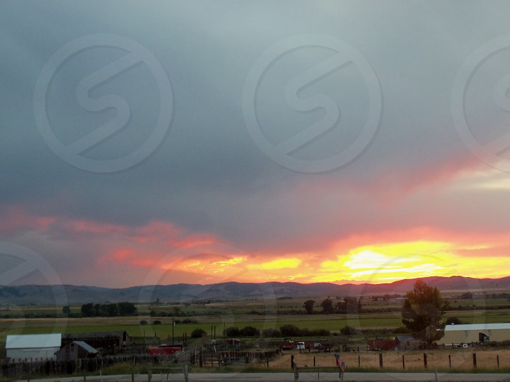 Sunset at the ranch photo