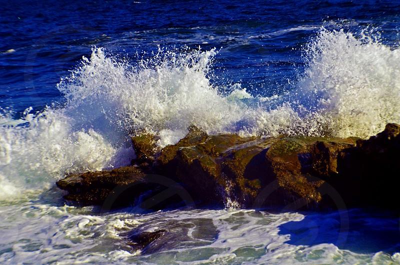 waterwavesrockocean photo