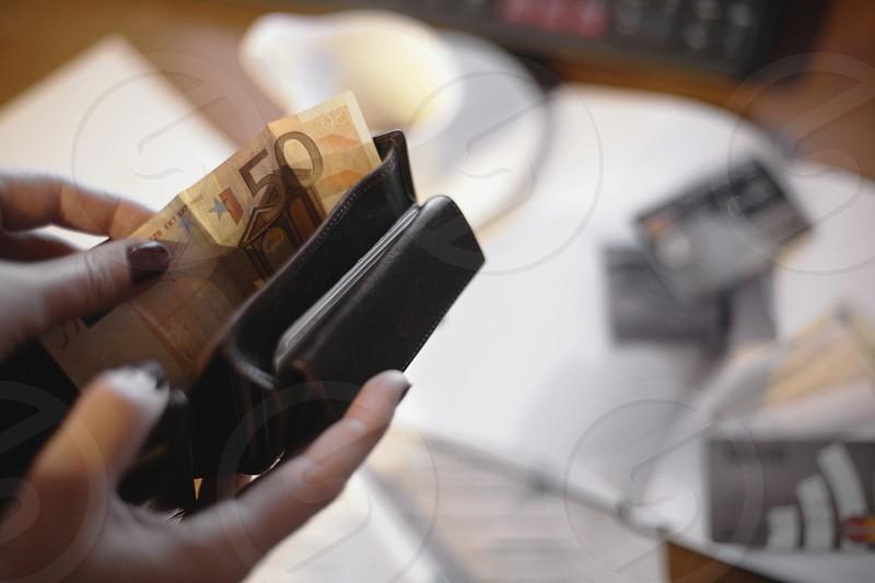 Walletfinancebusinesshomemoneycardscomputercoffee photo