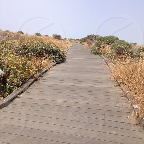 Boardwalk ocean Cambria Ca photo
