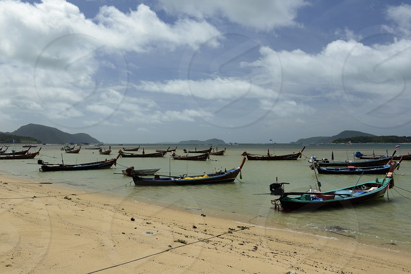 Der Strand in Rawai Beach im sueden der Insel Phuket im sueden von Thailand in Suedostasien. photo