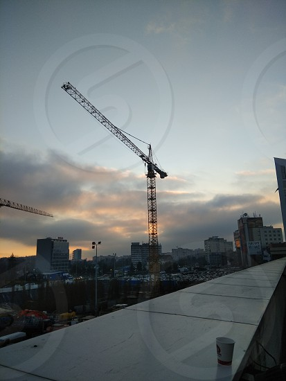 Crane in the sky photo