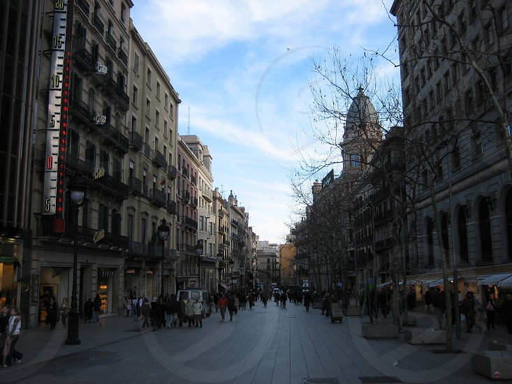 European city street photo