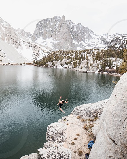 Glacial Lake in the Eastern Sierras photo