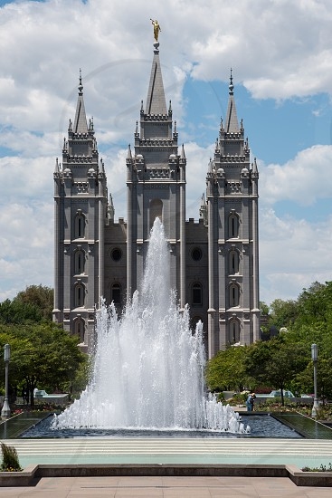 Mormon temple church slc Salt Lake City Utah temple square  photo