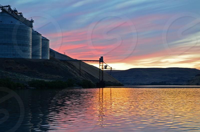 Nature beauty sunset dusk - Snake River Washington photo