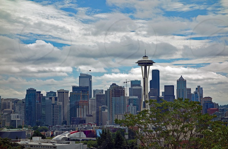 cityscape landscape space needle Seattle building city urban photo