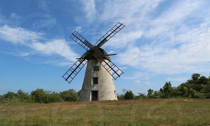 Antique windmill photo