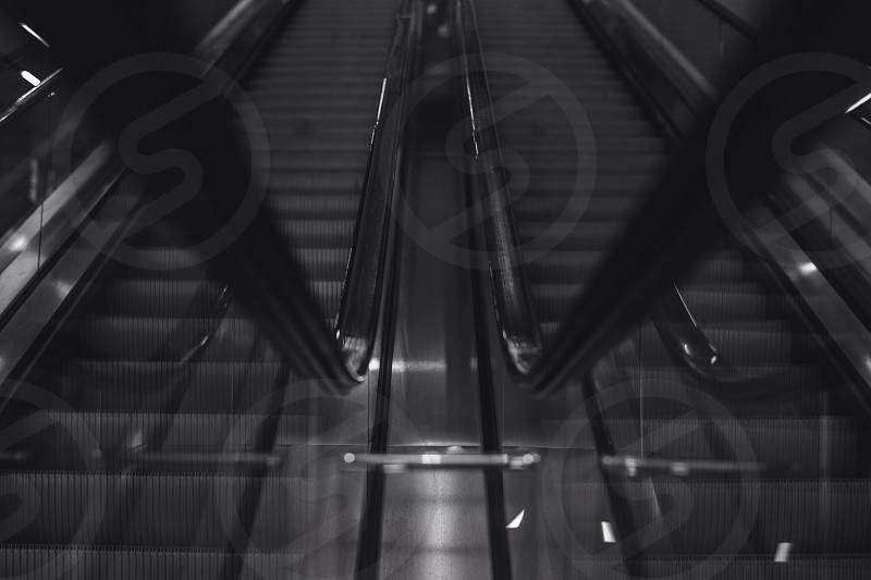 gray escalator photo
