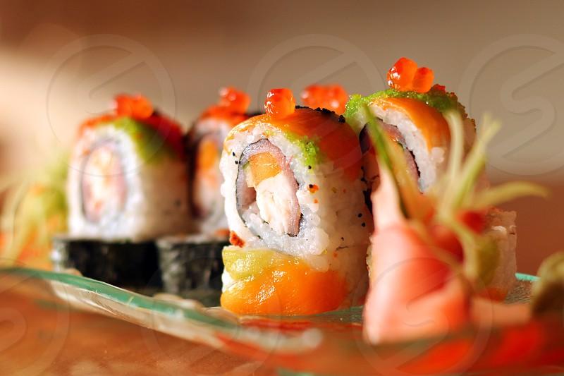 Sushi pieces photo