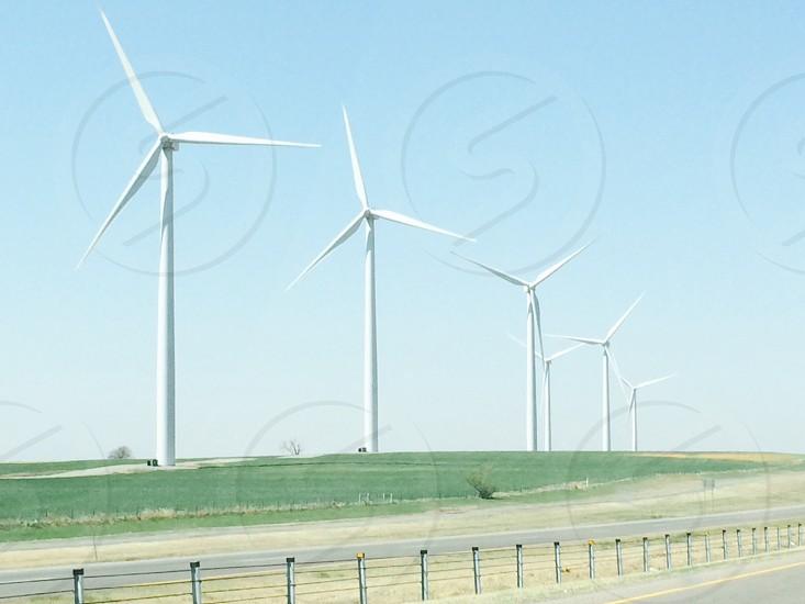 6 white windmill photo