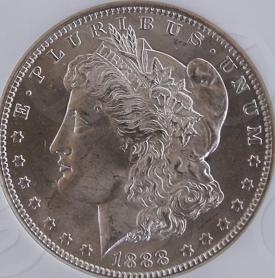 1888 Morgan Dollar. photo
