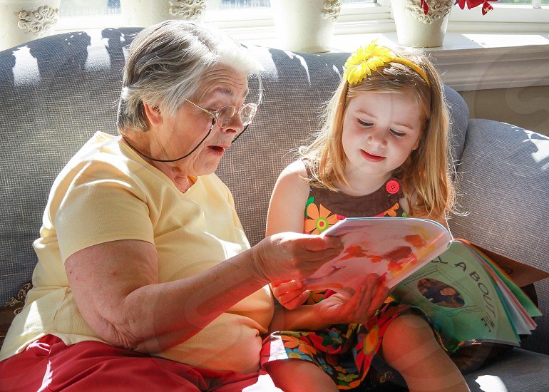 grandmother and grandchild photo