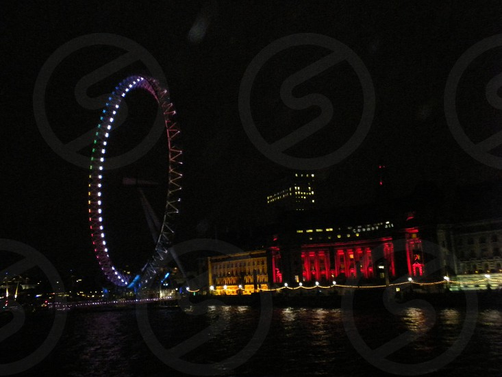 London at nighttime.  photo