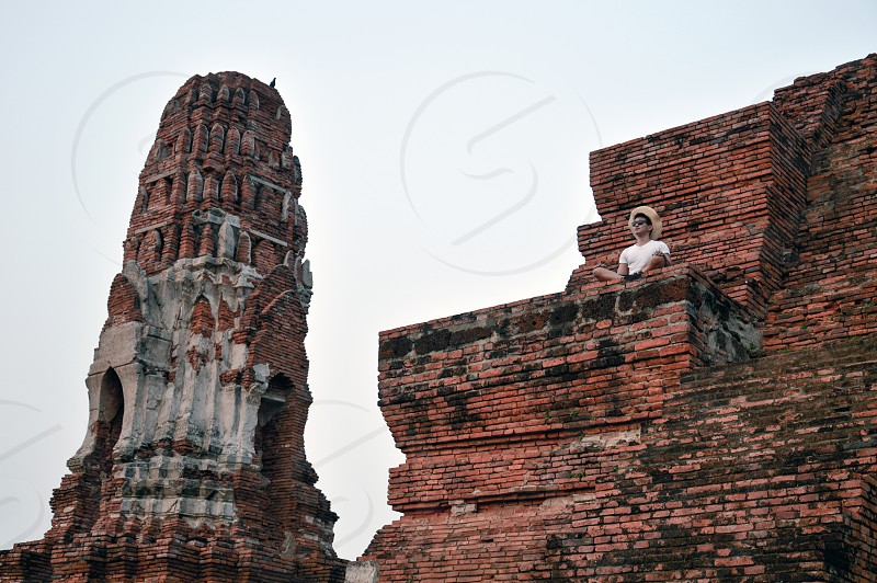 Ayutthaya Historical Park a UNESCO World Heritage Site covers the ruins of the old city of Ayutthaya in Thailand photo