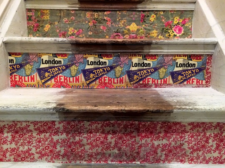 Bringing old stairs back to life with decoupage photo