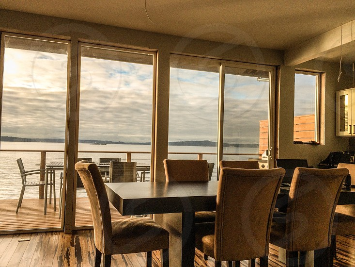 Dining room windows photo