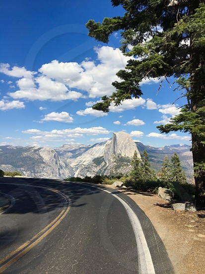 Yosemite national park nature california usa half dome landscape trees mountain photo