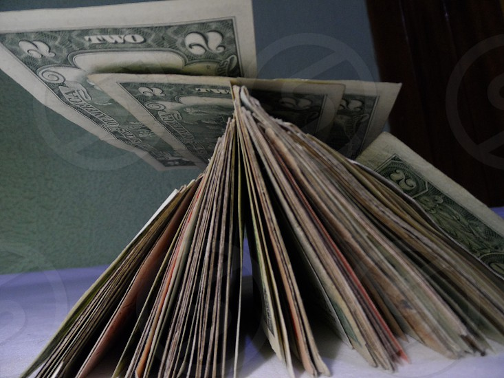 Finance money savings bills currency fiat dollar dollars. photo