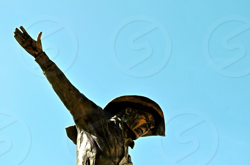 Bronze Cowboy Statue - Deadwood South Dakota USA photo