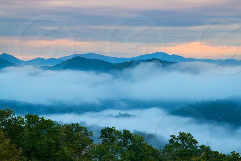 Sunrise at the smokey Mountains photo