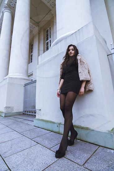 girl, fashion, photoshoot, wide, black