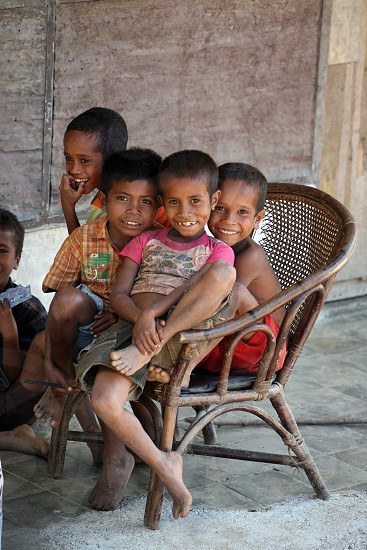 childen in a vilage near the city of Dili in the south of East Timor in southeastasia.