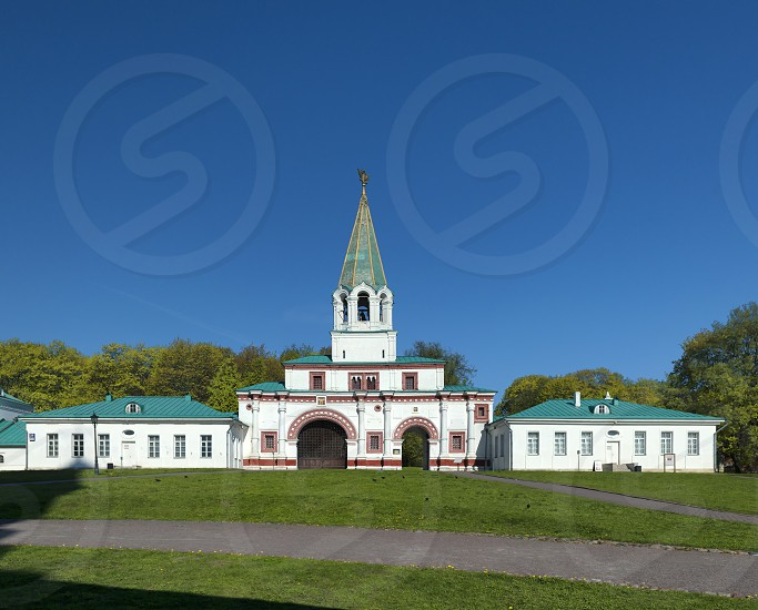 Frontal Gate at Kolomenskoe park Moscow Russia photo