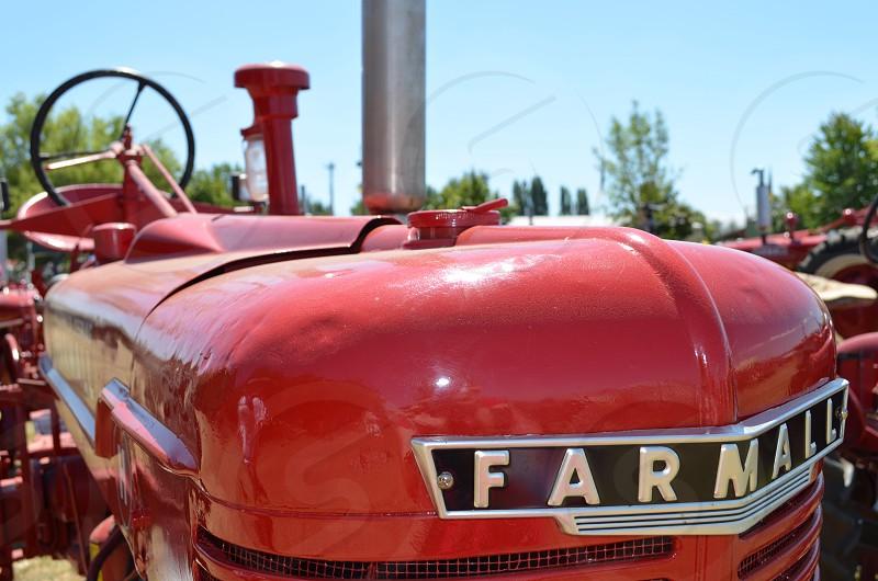 Red Farmall Tractor photo
