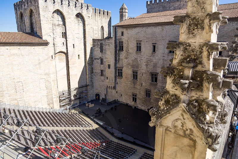 Palais des Papes in Avignon Faance photo