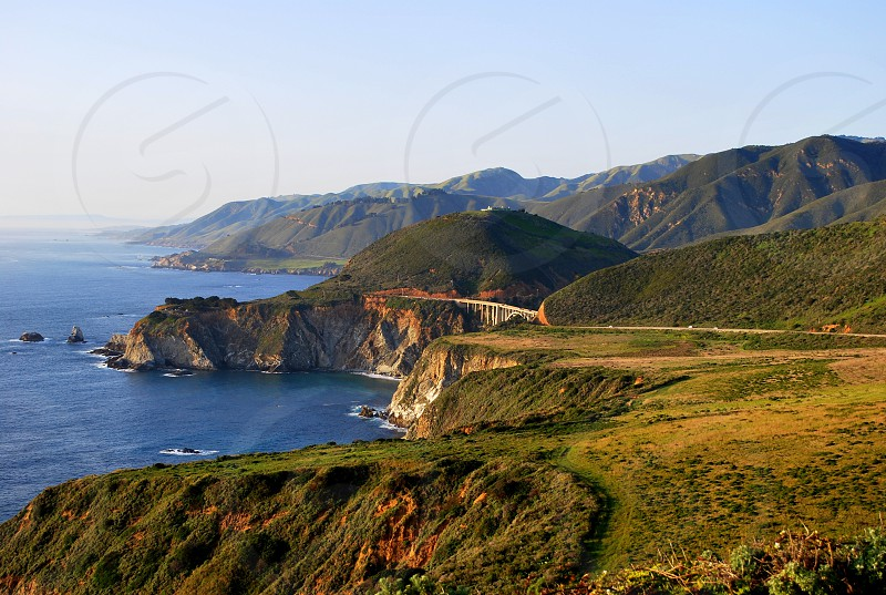 View of the coastline of Big Sur  photo
