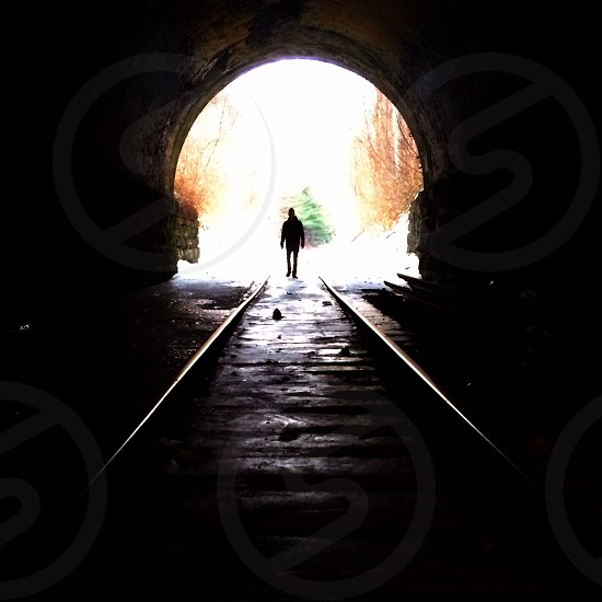 On the tracks in Greenfield Massachusetts photo