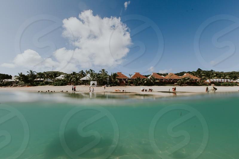 Fiji mamanuca islands arial likuliku island resort tokoriki island  photo