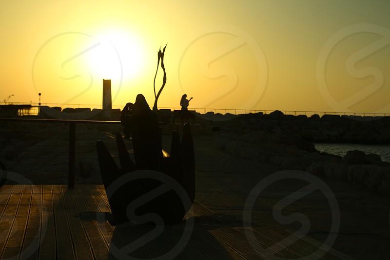 anchor on caesar maritima tel aviv israel photo